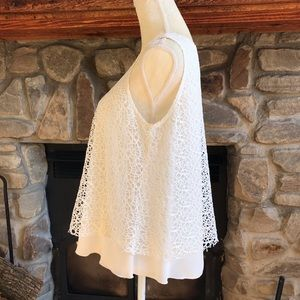 Cartise Canada white lace lagenlook blouse 6